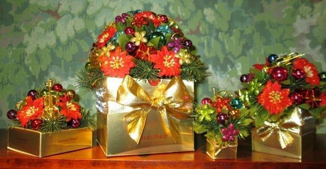 Christmas Bouquet Box - 4 pc