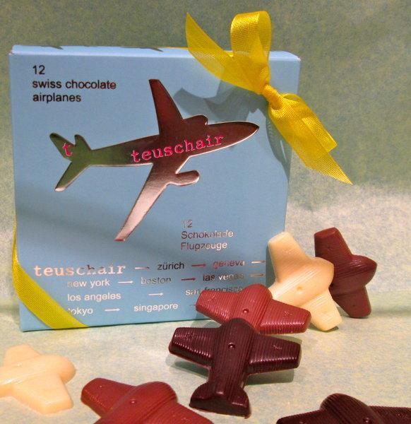 Box of Chocolate Airplanes - 12 pieces